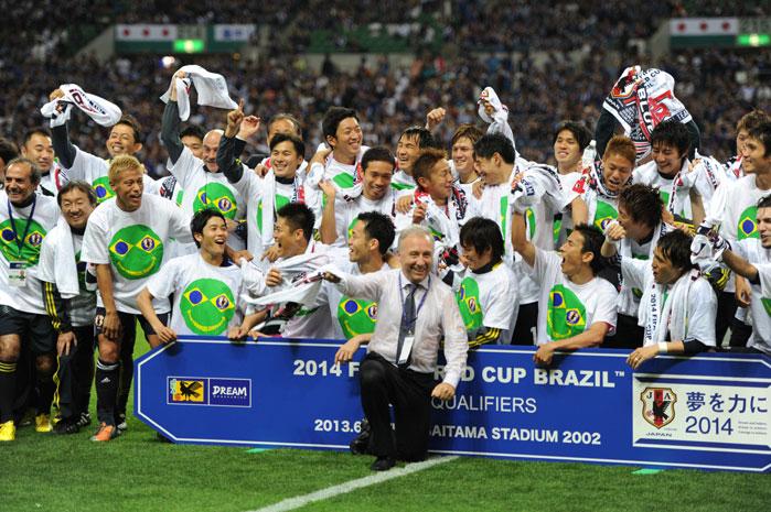 サッカー日本代表、ブラジルW杯出場決定!