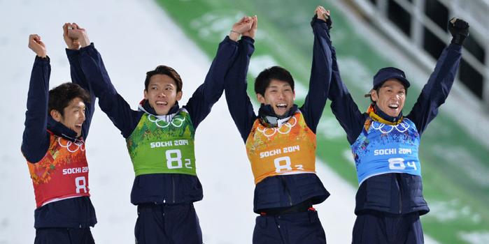 日本ジャンプ団体 銅メダル獲得!